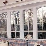 Casement vinyl replacement windows
