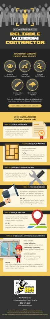 Infographics – 6 Traits of a Reliable Window Contractor